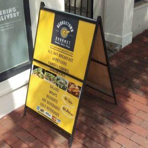 Sidewalk Signs 5b56127c60b92 restaurant aframe menu storefront outdoor indoor custom vinyl mural collection 300x300