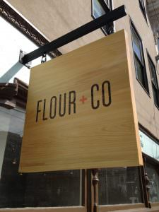Flour + Co Hanging Sign